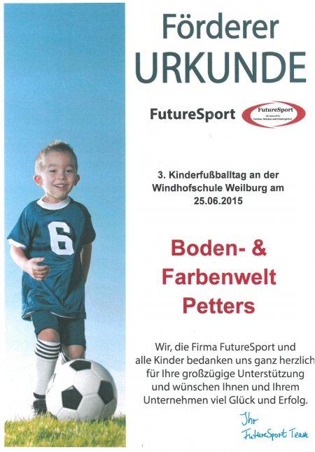 Förderer URKUNDE von FutureSport